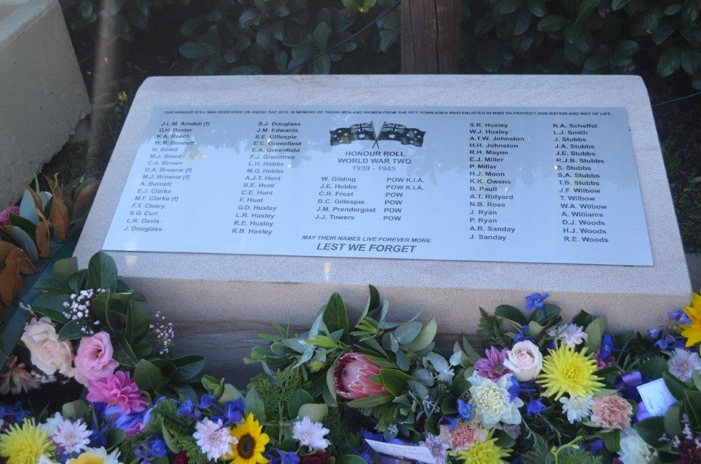 WW2 Honour Roll Memorial